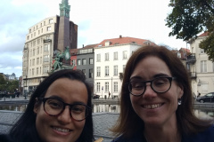 Ralitsa Donkova '05 and Natalie McNelis '90 in Brussels, Belgium.