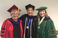 Karen Lee '85, Jeannie Brown Leonard '85, and Bonnie Stabile '85 at George Mason University in Fairfax, VA.