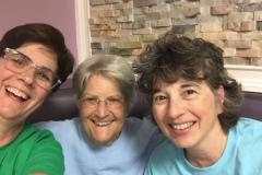 Alison Marcello '85, Barbara Sweeton '60, and Nina Ditmar '84 in Manahawkin, NJ.