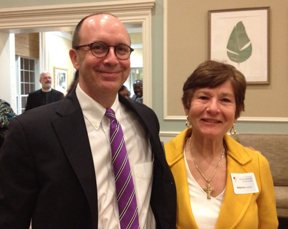 Rebecca Lovelace with MHC Professor Christopher Rivers