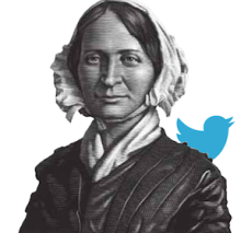 Mary Lyon with Twitter bird