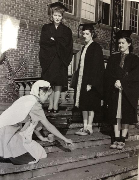 Seniors hazing a freshman, 1941