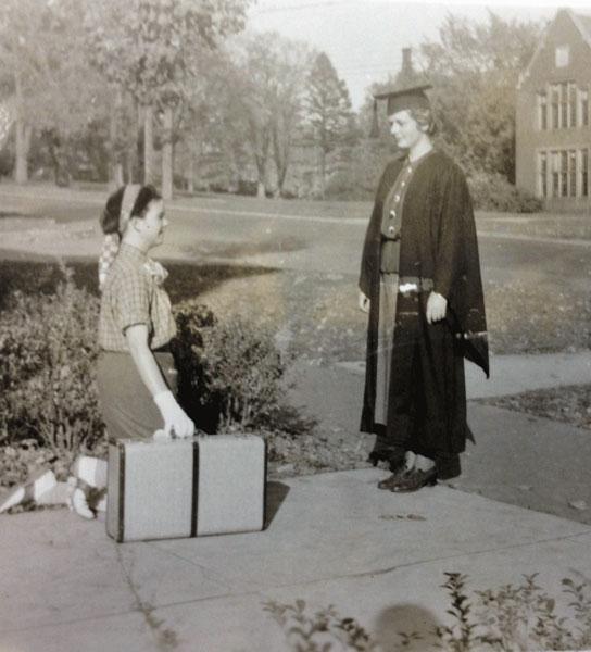 Senior hazing a freshman, 1936