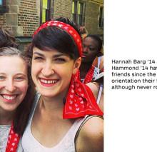 Hannah Barg '14 Leah Hammon '14