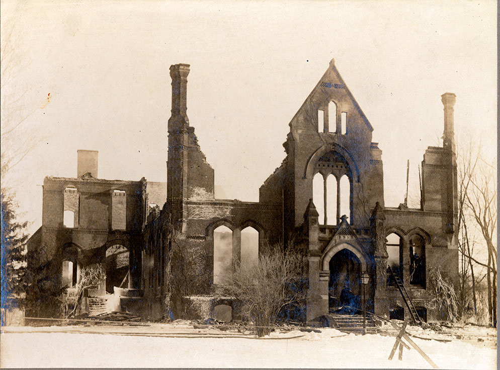 Williston Hall Fire, 1917