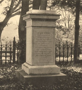 Mary Lyon's Grave, 1885 (Archives & Special Collections )