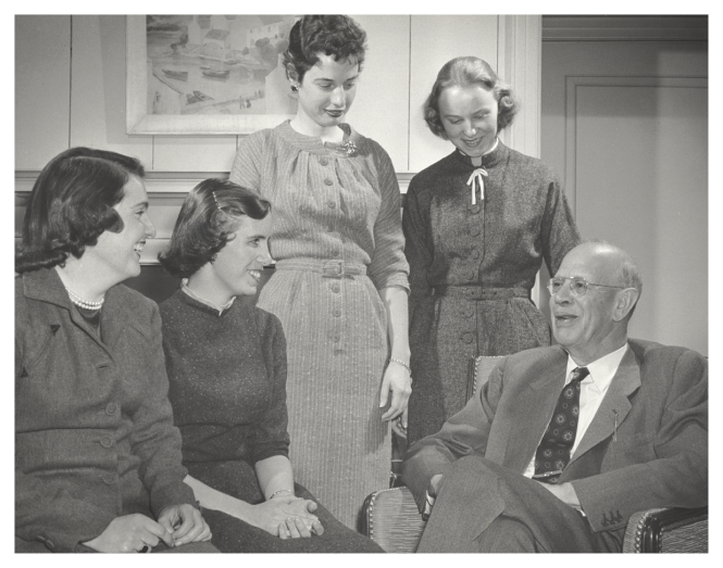 President Ham with Students