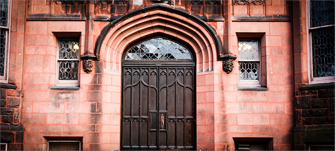 Mount Holyoke Library Doors