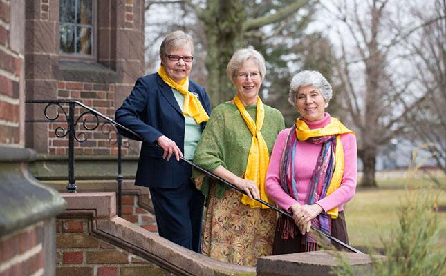 Left to right, Joyce Kling, Joanna MacWilliams Jones, Gail Roth