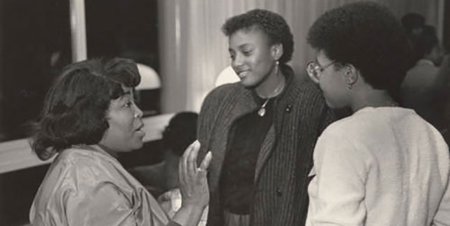 Betty Shabazz at the Black Alumnae Conference 1983