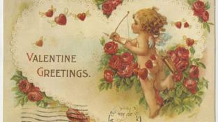 Valentine with cherub