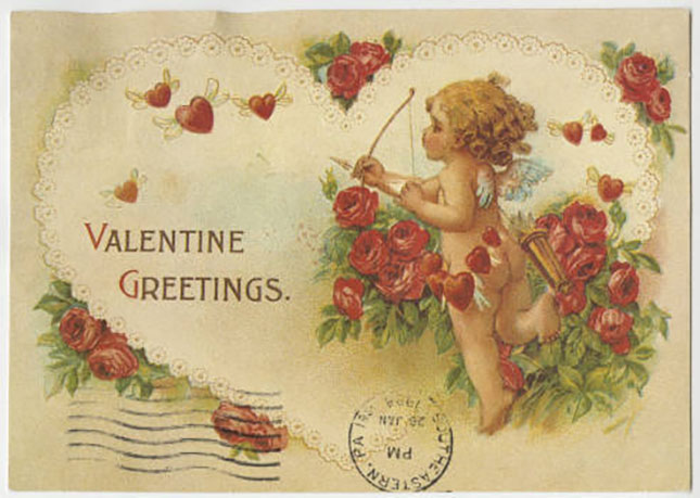 Valentine with cherub