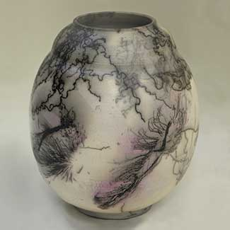 Blush Painting ceramic by Joan Libby Hawk