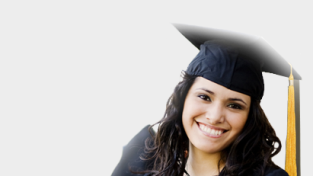 Graduate wearing cap