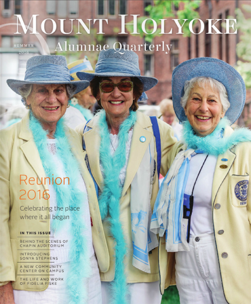 Alumnae Quarterly cover Summer 2016