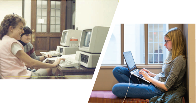 Then & Now: Computers on Campus