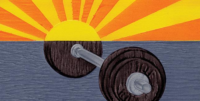 Weight/sun graphic