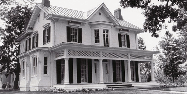 Cedar Hill, the Douglass family home in Washington, DC, in 1963.
