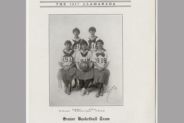 1916 senior basketball team in the yearbook