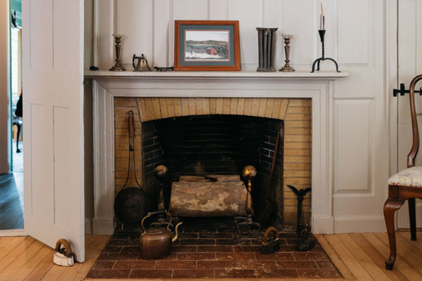 Fireplace at Sycamores