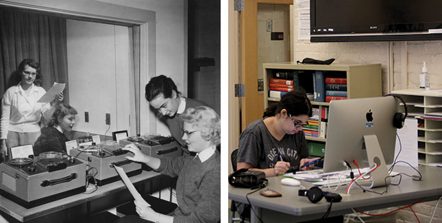 Language labs in the 1960s and 2017