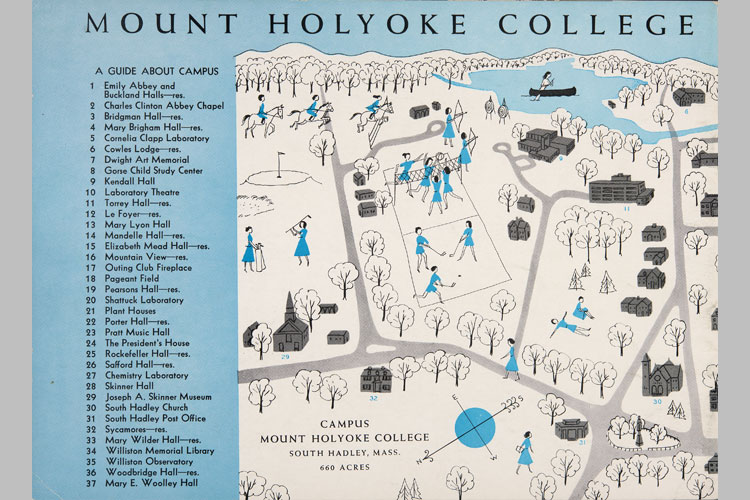 Archival Campus Map from 1950s Featured on Admissions Brochure