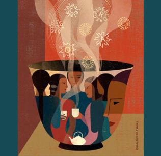 Illustration of mug of chai
