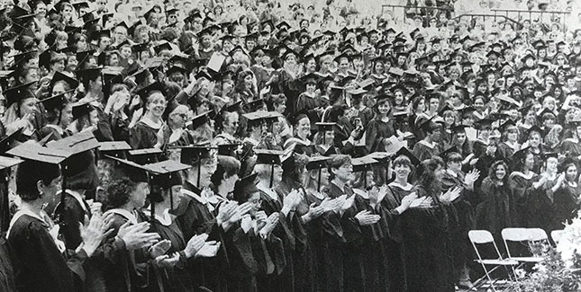 Graduates at the 1992 Commencement