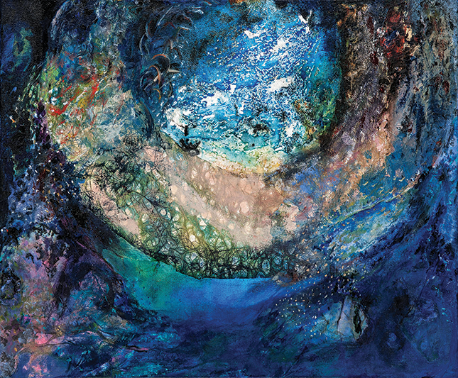 Painting of swirling colors