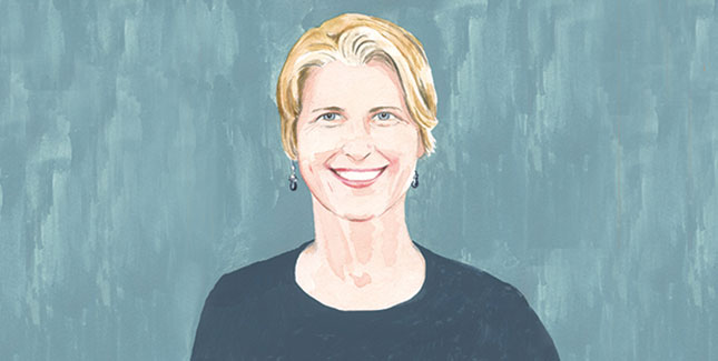 Emily Martz '94 illustrated headshot