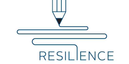 "illustrated pencil writing the word ""resilience"""