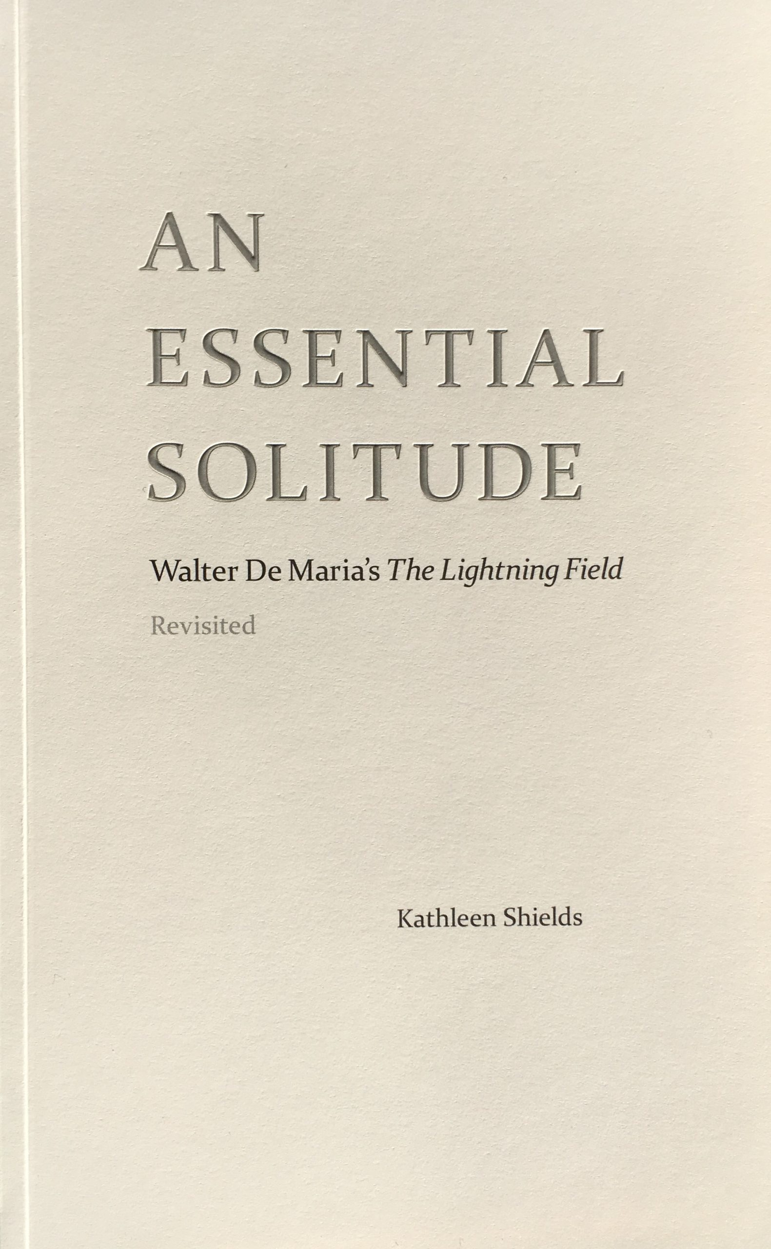 Cover of An Essential Solitude